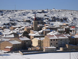 Sierra de Solorio - Winter landscape of the range in Maranchón