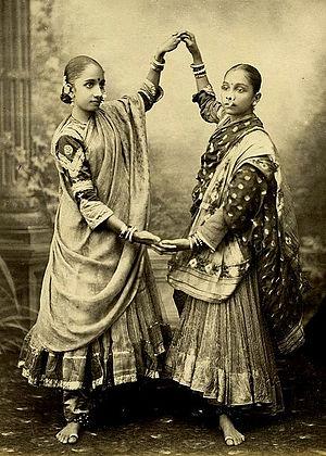 Gagra choli - Women in Ghagra Choli ca 1872.