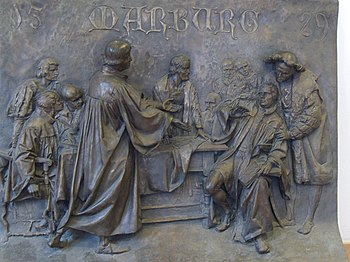 Relief for the Marburg Religious Discussion in Marburg Castle