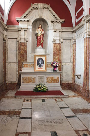 Margaret Sinclair (nun) - Margaret Sinclair's shrine, St Patrick's, Edinburgh