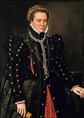 Retrato de Margarita de Parma por Antonio Moro.