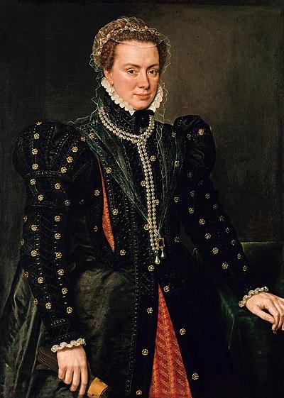 Retrato de Margarita de Parma por Antonio Moro