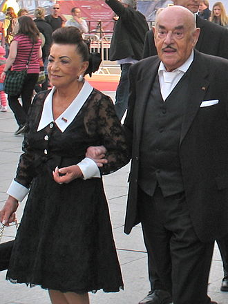 Artur Brauner - Brauner and his wife Maria (2010)