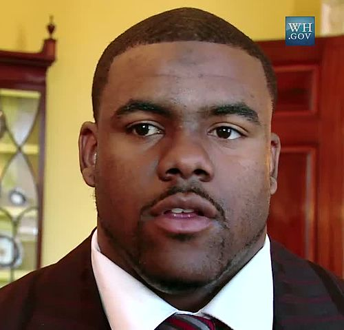Mark Ingram, Jr. at the White House 2010-03-08 2