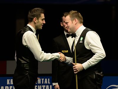 Mark Selby, Shaun Murphy and Marcel Eckardt at Snooker German Masters (DerHexer) 2015-02-08 05.jpg