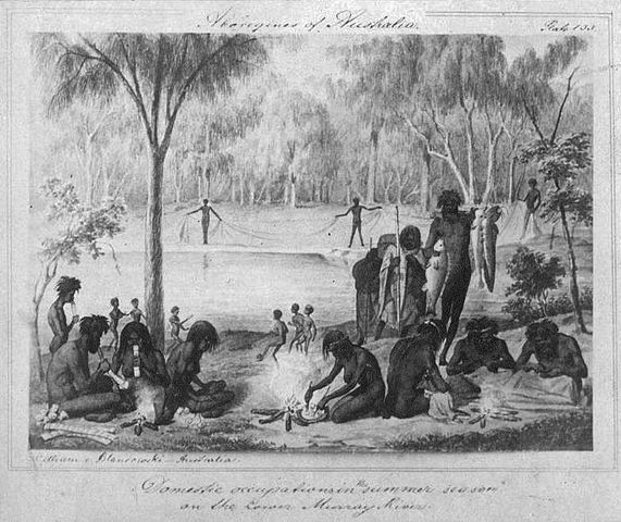 Blandowski's depiction of Woggabaliri (1857) - History of Ball Sports