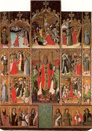 Bernat Martorell - Retable of Saint Pere de Púbol, end of the 1430s (Museu d'Art de Girona)