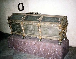 Maria Eleonora of Brandenburg - Maria Eleanor's coffin at Riddarholm Church