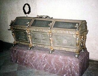 Maria Eleonora of Brandenburg - Maria Eleanor's coffin at Riddarholm Church