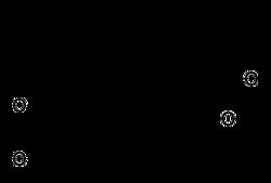 Strukturformel der Maslinsäure