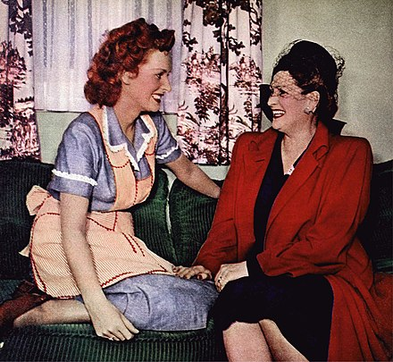 O'Hara with her mother, Marguerite FitzSimons, in 1948 Maureen O'Hara and mother 1948.jpg