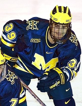 Max Pacioretty - Pacioretty playing for the University of Michigan.