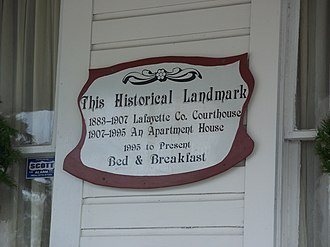 Old Lafayette County Courthouse - Old Courthouse Sign