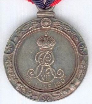 King Edward VII Coronation Medal - Image: Mayor's Coronation Medal 1902 reverse