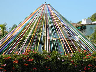 Brentwood, Los Angeles - Archer School for Girls maypole tradition