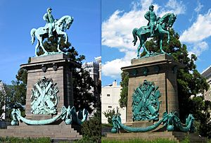Major General George B. McClellan - Before and after the 2009 restoration.