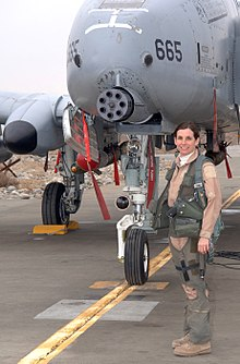 Martha McSally with an A-10 Thunderbolt II