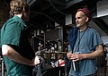 MdFF's Eric Hatch and music icon Ian MacKaye - 2009 (26653836687).jpg