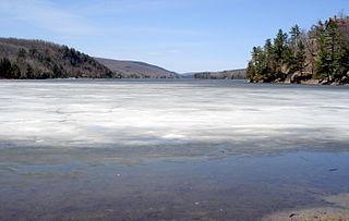 Meech Lake lake in Canada