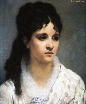Mélanie Bonis - Mel Bonis at age 17, painting by Charles-Auguste Corbineau (1885).