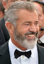 Photo of Mel Gibson at Cannes in 2016.