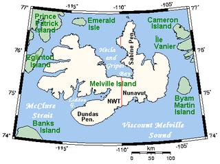 island in Canada, in Northwest Territories and Nunavut