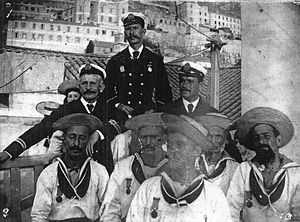 SS Utopia - Image: Members of the Gibraltar Port Authority wearing medals