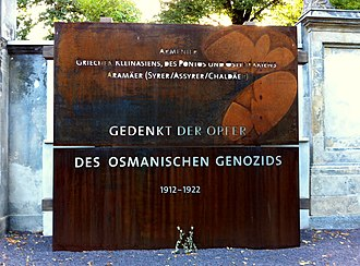 Assyrian genocide - Image: Memorial for the Arameans in Berlin