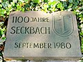 Memorial stone 1100 years seckbach hesse germany.JPG