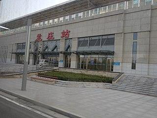 railway station on Zhengzhou-Xinzheng Airport intercity railway