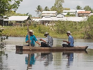 Plain dress - Image: Mennonites on New River, Belize detail