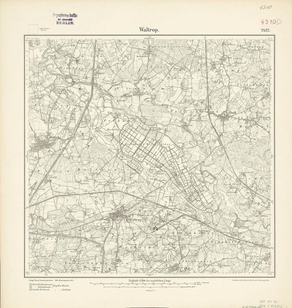 file:messtischblatt 4310 waltrop 1907 - wikimedia commons, Esstisch ideennn