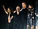Left to right: Kirk Hammett, Lars Ulrich, James Hetfield, Robert Trujillo