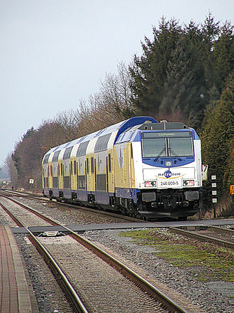 Metronom Eisenbahngesellschaft - Image: Metronom Hamburg Cuxhaven 01