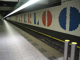 Willem Sandberg - Waterlooplein metro station featuring an example of Sandberg's typography