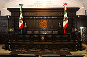 The tribune of the Mexican Senate.