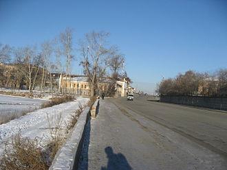 Miass - Image: Miass Proletarskaya street 2014