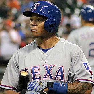 Michael Choice - Choice with the Texas Rangers in 2014