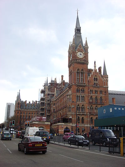 St. Pancras railway station by Sir Gilbert Scott Midland Grand St Pancras.jpg