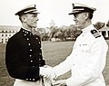 Midshipman William C. Chapman receives prize from Commander Ed A. Hayes (25431005107).jpg