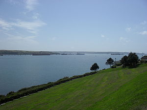 Milford Haven Waterway - View of harbour from town