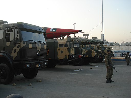 Military truck carrying IRBMs of Pakistani Army
