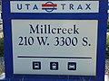 Millcreek station street sign, Aug 16.jpg