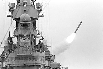 AN/SPQ-9 - Image: Missouri.missile 02