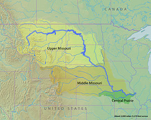 Jedediah Smith - Regions of the Missouri River Watershed