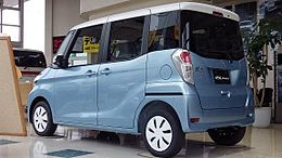 Mitsubishi eK space G Safety package B11A Rear.jpg