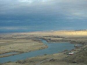 Mixed grass prairie - Mixed grass prairie around the Afterbay near Fort Smith, Montana