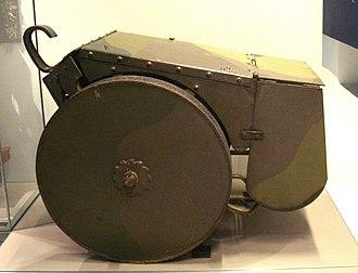 Jean Baptiste Eugène Estienne - A World War I mobile personnel shield.
