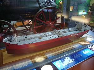 Model de vaixell - Castillo de Montearagon - repsol - mnactec.JPG
