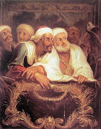 Comédie-Italienne - Mohammed Temim, Ambassadeur du Maroc, à la Comédie Italienne (1682), Antoine Coypel (1661–1722), Versailles